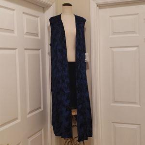 Luluroe blue Joy vest